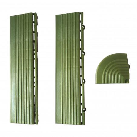 Coins et bordures pour dalles clipsables verts
