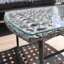 Focus salon de jardin métal et résine deauville