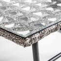 Focus table basse métal et résine salon de jardin LIMA