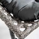 Focus fauteuil de jardin résine et métal LIMA