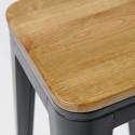 Focus assise en bois tabouret indus