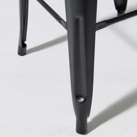 Focus pied métal noir tabouret indus
