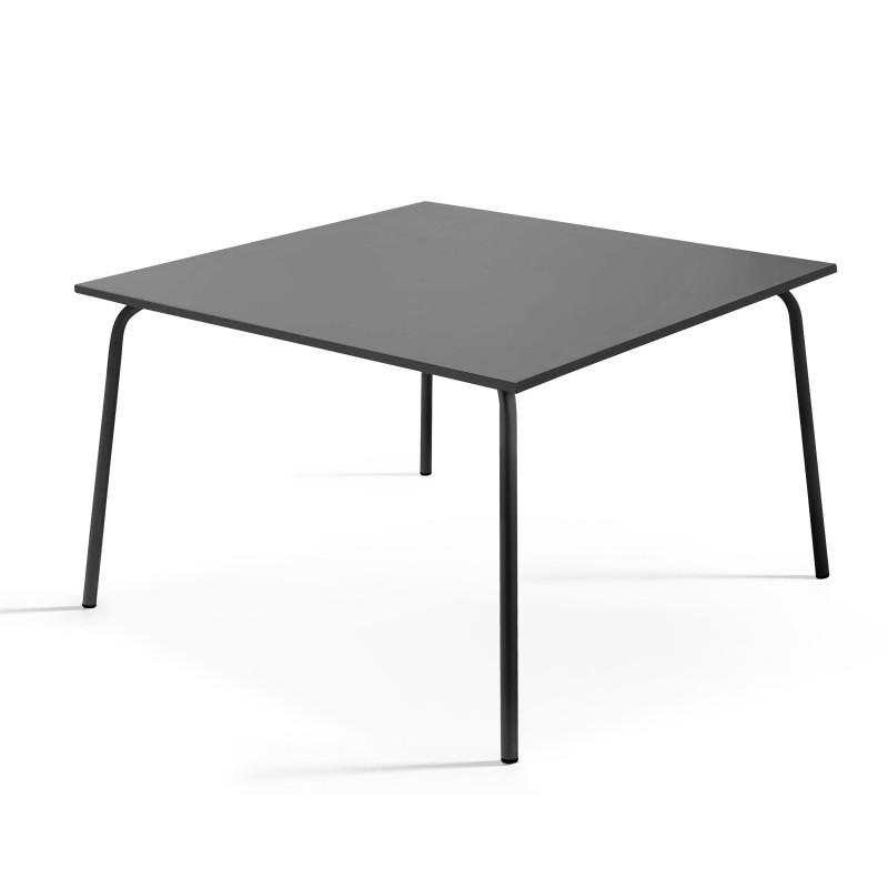 Table carrée en métal GRISE