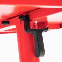 Focus table rabattable ROUGE en métal bistro
