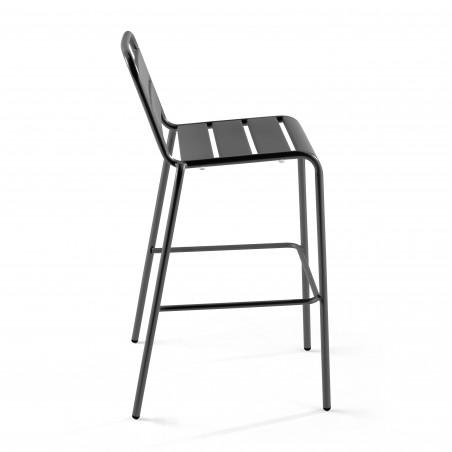 Chaise haute en métal GRISE