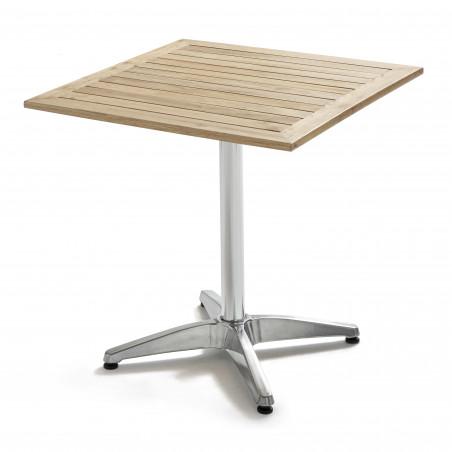 Table brasserie plateau bois et pied alu