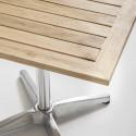 Table bistro pied alu et plateau bois