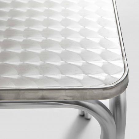 Table carrée en aluminium CHR