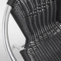 Focus fauteuil résine café brasserie
