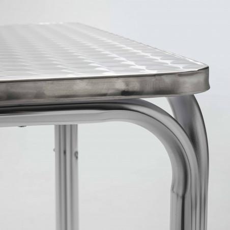 Focus table bistro carrée en aluminium