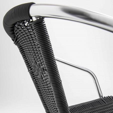 Focus chaise en résine avec accoudoirs NOIRE
