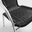 Focus fauteuil bistro avec accoudoirs NOIR