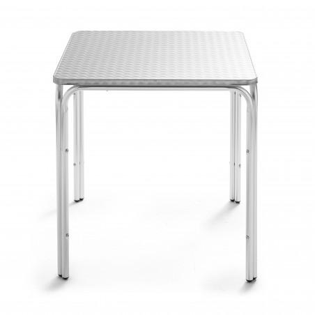 Table bistro carrée en alu
