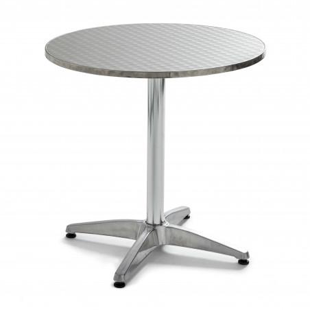Table bistro ronde aluminium 4 places