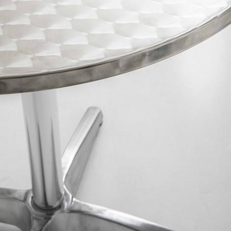 Focus plateau de table bistro ronde alu