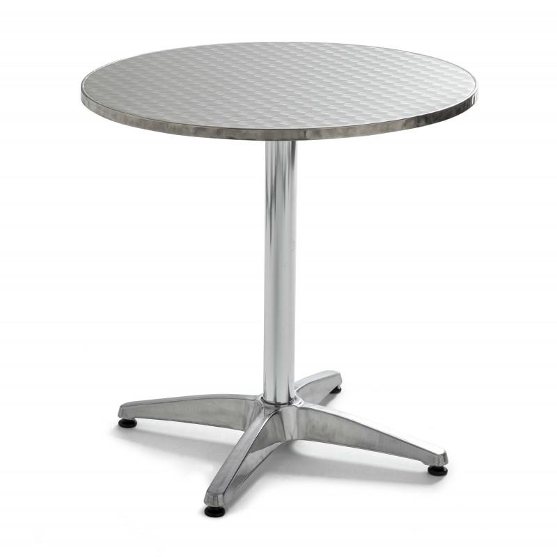 Table de terrasse ronde en aluminium