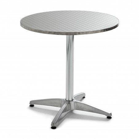 Table ronde bistro en aluminium 4 places