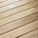 Table en bois carrée terrasse 4 personnes