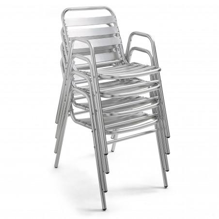 Chaise empilable bistro CHR en aluminium