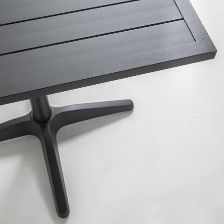 Focus plateau table de terrasse brasserie GRISE
