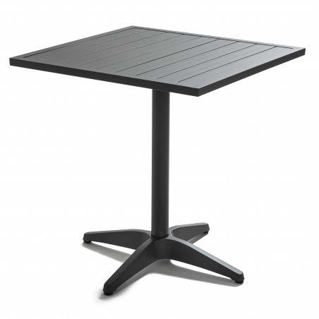 Table carrée GRISE CHR aluminium