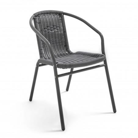 Chaise aluminium et résine avec accoudoirs CHR