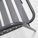 Focus chaise grise alu terrasse restaurant