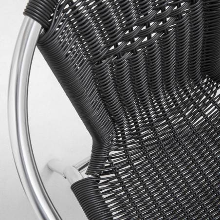 Focus chaise bistro brasserie résine noire
