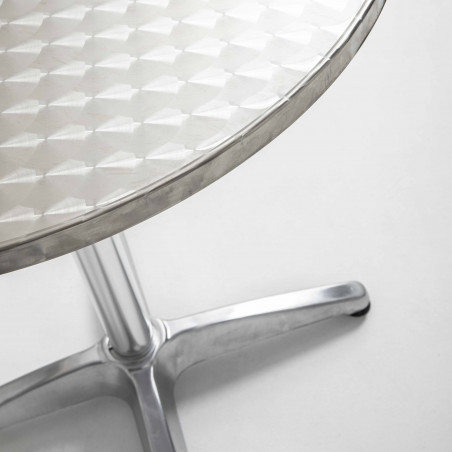 Focus plateau table ronde 4 places aluminium CHR