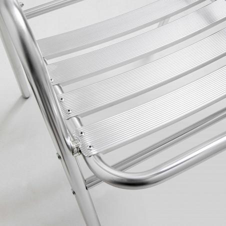 Focus chaise terrasse hôtel en aluminium