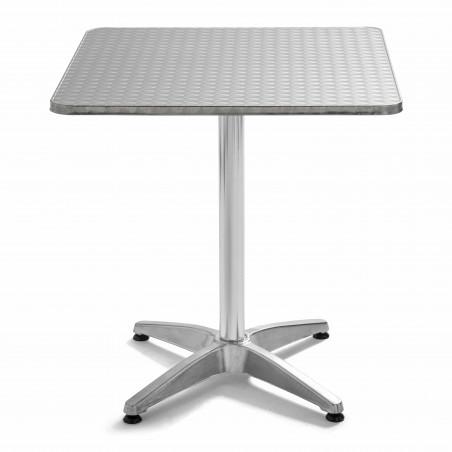 Table carrée aluminium terrasse CHR 4 places