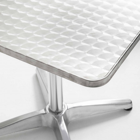 Focus plateau table carrée rabattable en aluminium