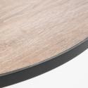 Focus plateau béton effet bois table bistro