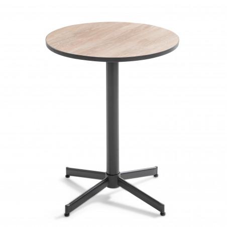 Table bistro ronde métal et bois