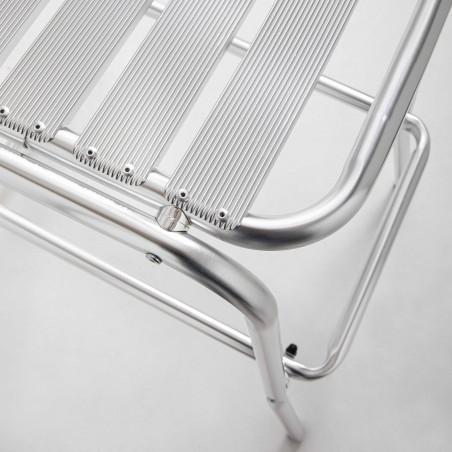 Focus tabouret gris en aluminium terrasse brasserie