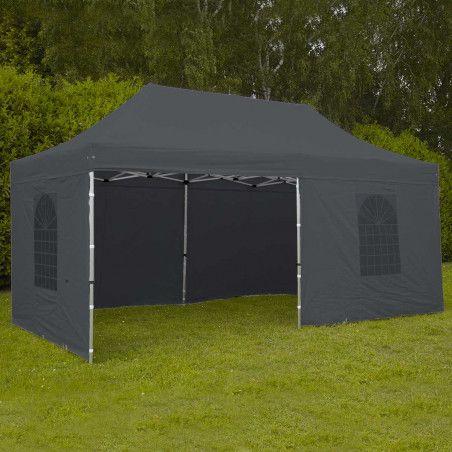 Tente pliante PRO 40MM 3x6m 300g/m² Gris