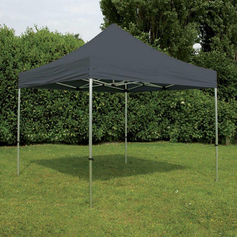 Tente de jardin pliante tonnelle 4x4m 300g m 40mm grise barnum pergola ebay - Tonnelle de jardin pliante ...