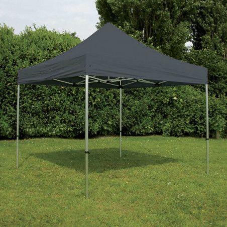 Tente pliante 4x4m 300g/m² 40mm Grise