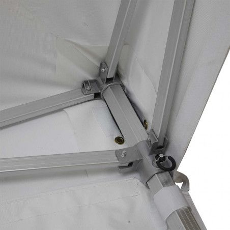 Tente pliante PRO+ 50MM 3x3m 520g/m² en alu blanc