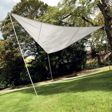 Voile d'ombrage triangulaire 3,6 m écru