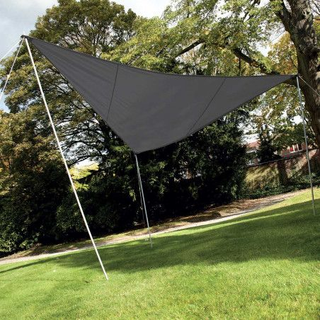 Voile d'ombrage triangulaire 3,6m gris