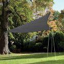 Voile d'ombrage triangulaire PRO 4,8 m gris