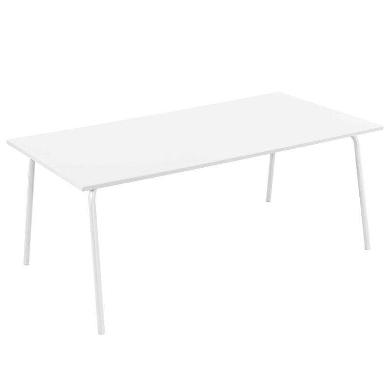 Table et chaises en m tal mobeventpro mobilier terrasse - Table chaise terrasse ...