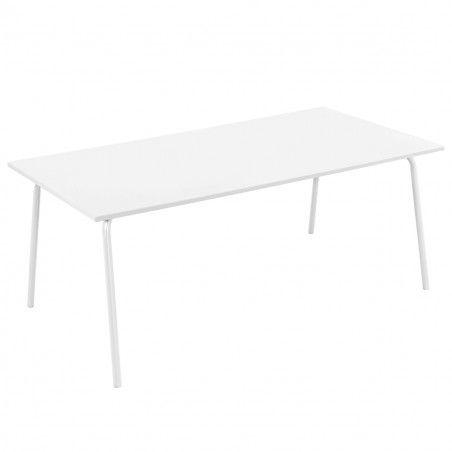 Table terrasse metal blanc design mobilier CHR