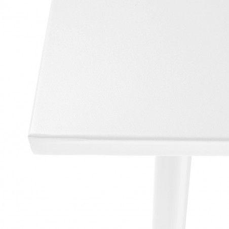 Zoom plateau Table terrasse metal blanc design mobilier CHR