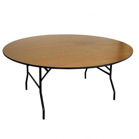 Lot de 5 Tables pliantes rondes en bois 170cm 10 places
