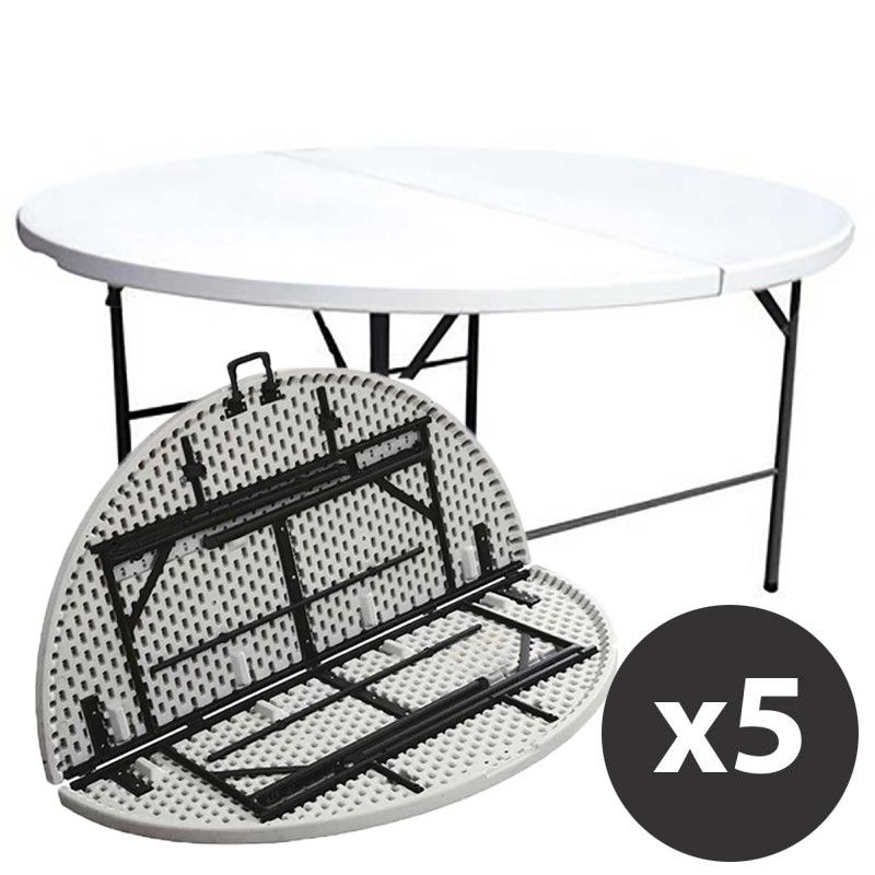 Table pliante ronde collectivit mobeventpro - Table pliante de collectivite ...