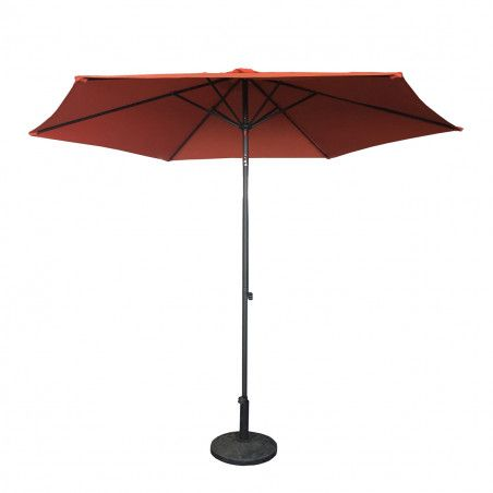 Parasol droit inclinable 3 m orange