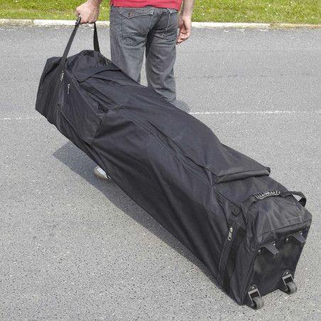 Tente pliante 3x3m grise et 4 poids de lestage 12Kg