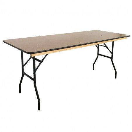 Table pliante bois 180 cm - Lot de 5